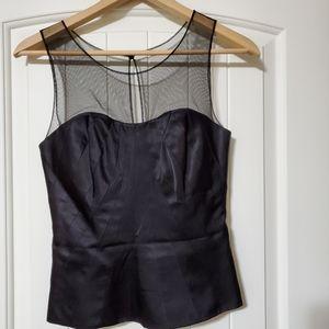 White Black House black blouse